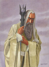 Saruman Lord Of The Rings Art Print