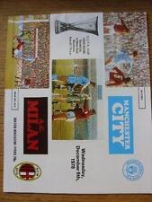 06/12/1978 Manchester City V AC MILAN COPPA UEFA [] (cambiamenti del Team). articolo in andare molto