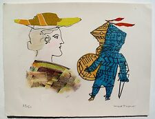 "MAX PAPART ""A SCOTTISH GIRL"" Hand Signed Limited Edition Etching RARE! #1"