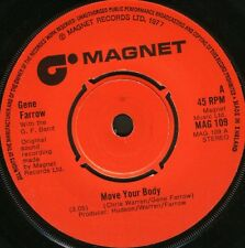 """GENE FARROW move your body/can you keep it up all night MAG 109 1977 7"""" WS EX/"""