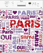 Sticker lave vaisselle I Love Paris 60x60cm Réf 180
