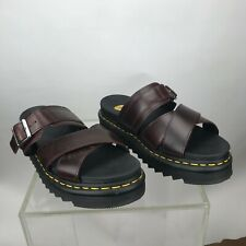 Dr. Martens Mens Size 8 / Womens Size 9 Ryker Brown Leather Sandals ZD-553