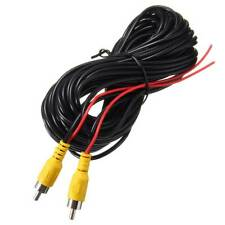 6m RCA Extension Video Cable with Red Reverse Trigger Leads for Auto Car Rear
