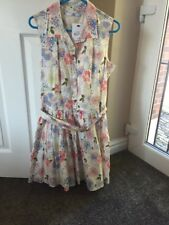 Girls M&S 13-14 Years Ivory Mix Dress With Belt New With Tag