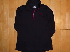 UNDER ARMOUR Womens 1/4 Zip SEMI FITTED Running Large L Fitness Pullover Jacket