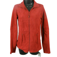 NWT Adrienne Vittadini Red Fleece Zip Up Jacket Women's Size XS
