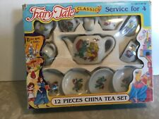 Tea set Fairy Tale classics service for 4 in Mermaid themed 12 pieces from 1992
