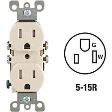 100 Pk Leviton Almond 2 Pole 3 Wire 15A NEMA 5-15R Duplex Outlet N04-T5320-00T