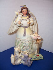 """Enesco 2014 Jim Shore """"Peace to All"""" Woodland Angel with Animals 4041084 MINT"""