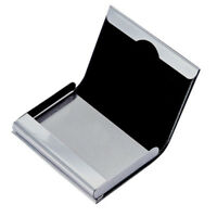Wallet Box Aluminum PU Leather Business Credit Card Name Id Card Holder Case