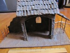 "Rustic Rusty Metal Nativity Stable Creche Manger Christmas Large 17 1/2"" x 10"""
