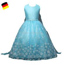 Mädchen Prinzessin Kleid Elsa Eiskönigin Kinder Frozen Kommunionkleid Kostüm