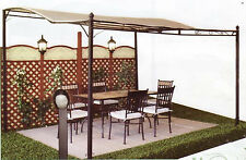 Gazebo giardino acciaio pergola Patio mt 3,5x3x2,5 h max da parete