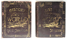 A History Of The World With All Its Great Sensations Vols 1-2 1887, clean copies