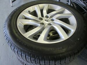 LAND ROVER DISCOVERY 5 SILVER ALLOY WHEEL & 255/55/20 TYRE NEW F1  HY32-1007-KA
