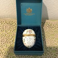 Bilston and Battersea Enamels A Token of Love Hinged Egg Trinket Box