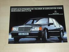 62324) Mercedes 190 E 2.3-16 W201 Prospekt 08/1983