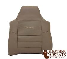 03-04 Ford F250 F350 F450 Lariat *Driver Side Leather Lean Back Seat Cover TAN