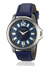 Texus(TXMW014) Blue Leather strap Blue Dial Casual Watch For Boys/Men at Auction