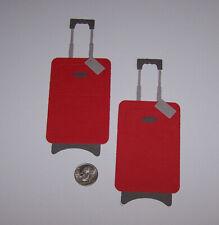 2 Suitcases Premade PAPER Die Cuts / Scrapbook & Card Making