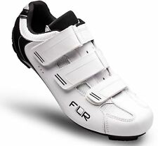 Flr F-35.Iii Road Cycling Bike Shoes in Matt White/Black - Size 42 System