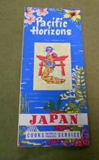 #D489.   1960  JAPAN  PACIFIC HORIZONS  TOURIST BROCHURE