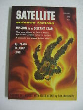 Feb 1958 Satellite Science Fiction MISSION to a DISTANT STAR Frank Belknap Long