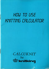 CALCUKNIT Knitting Calculator Manual on CD in PDF format