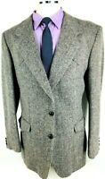 44L Farah Western Wear Mens Wool Tweed 2 Bttn Blazer Sport Coat Slate Gray Mint!