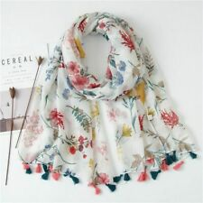Women Cotton Shawl Summer Large Sunscreen Scarf Soft Wrap Floral Scarves Fashion