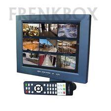 Monitor Lcd TFT 10 pollici videosorveglianza 2 ingressi AV  VGA Hdmi 1080p Audio