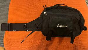 Supreme Black Shoulder/Waist Bag Cordura Fabric SS16