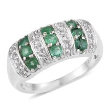Size 7 NIB $339.99 Genuine Brazilian Emerald Ring (1.300 Cts) 925 Sterling P-31