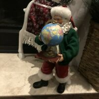 "Decorative Globe Santa Claus - 11"" in Height"
