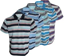 Men's T-Shirts Striped Loose Fit Pique Polo Polycotton 1908 Casual Tops M to 2XL