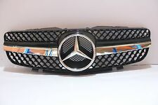 Mercedes Benz SL R230 SL500 SL600 SL-Style 03-06 Front Grille Chrome & Black