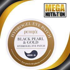 Petitfee Black Pearl & oro hidrogel ojo parche 60 parches limpiador Tónico