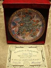 """P Buckley Moss Christmas Plates """"Christmas Angels"""" Signed/Number 378/5000 NEW"""