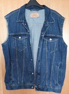 Levi sleeveless denim jacket - XL