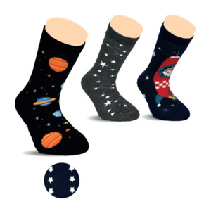 BROSS Kinder Thermo-Stoppersocke Space 3 Paar