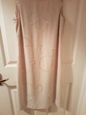 Next petite Size 6 Cream Dress With Sequins Worn Once
