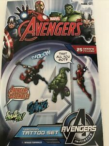 Avengers Marvel Temporary Tattoo Set 25
