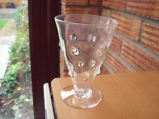 Antique Crystal Hobnail Jelly or Ale Glass.