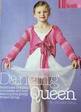 KNITTING PATTERN Girls Striped Ballerina Shrug Cardigan Gedifra Childrens MAKE