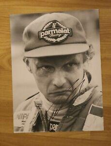 ORIGINAL Autogramm von Niki Lauda. pers. gesammelt. 18x24 cm Foto. 100% ECHT