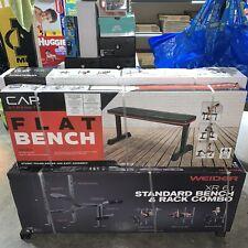 """Cap Premium Flat Strength Training Weight Bench 2.5"""" Thick Padding New"""