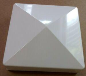 "5"" x 5""x 1""  Fence Post Horse Vinyl Cap Plastic White pyramid New England PVC"