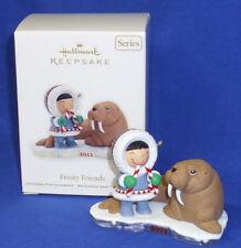 Hallmark Series Ornament Frosty Friends #32 2011 Eskimo Walrus Candy Canes NIB