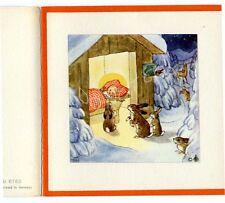 Antique Rare Ida Bohatta: Nativity: CHRIST CHILD WITH BUNNIES: Gift Card 6760