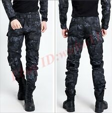 Hot Mens Camo Combat Army Cargo Military Trousers Work Outdoor Pocket Long Pants